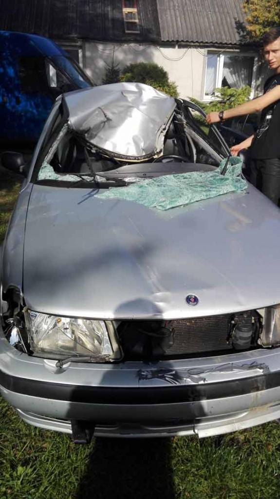 Saab Moose Collision