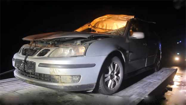 Saab Moose Crash