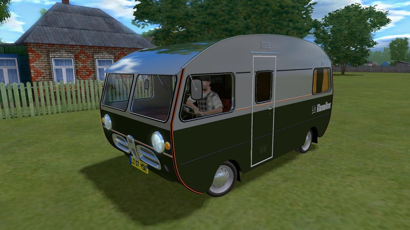 """SAAB Caravan 92HK Motorhome mod for game """"City Car Driving"""""""