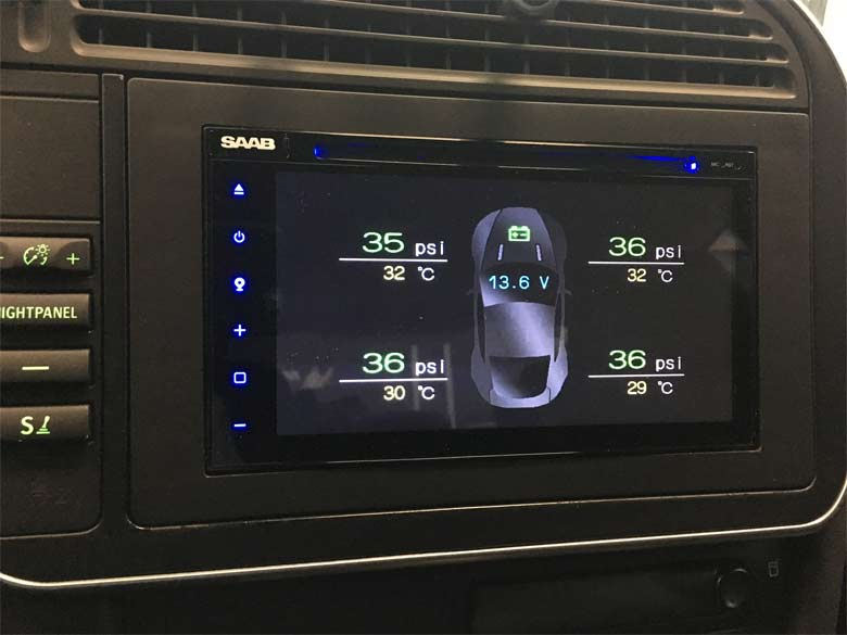 The Custom Multimedia Infotainment System with Navigation for Saab 9-3 (MY 03-06 )