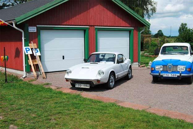 Classic Saab car in Nostalgia Garage