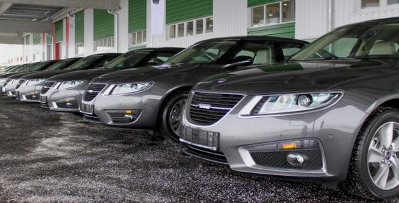 POLAR MOBIL presented over 10 new vehicles SAAB 9-5 to use the presidency of the EU