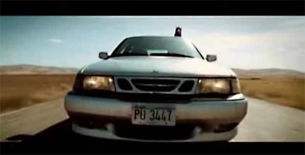Saab as a police car