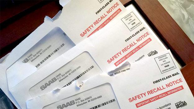 Saab Recall mail