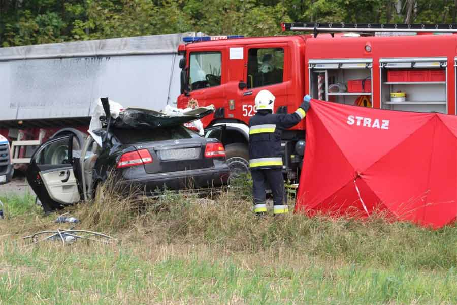 The Fatal Collision of Saab 9-3 and Scania truck in Poland