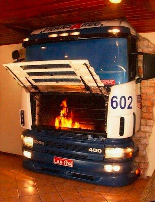 Saab Scania Fireplace
