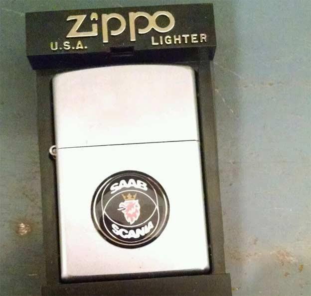 Saab Scania Zippo Lighter