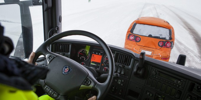 Reduced collision risk thanks to Scania AEB braking system