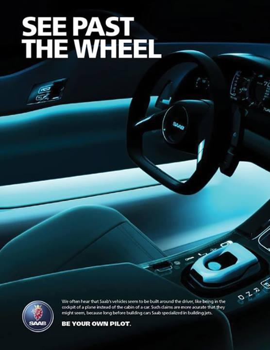saab see past the wheel