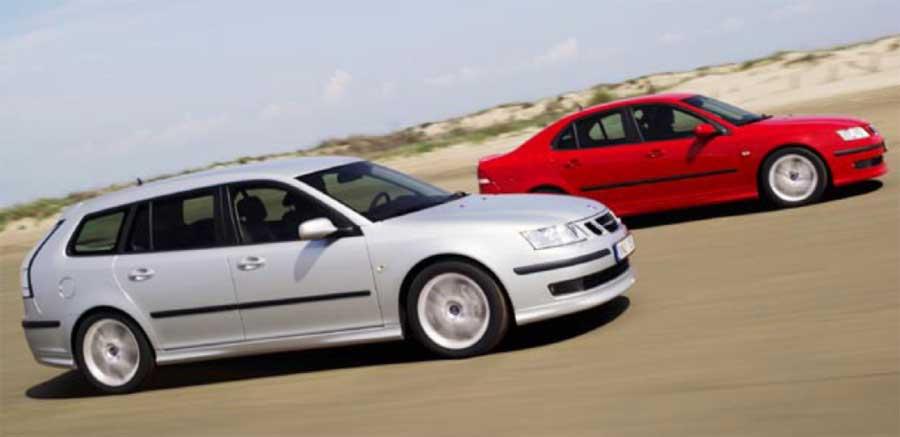 Saab heat: Aero SportCombi is only fractionally slower than 9-3 Aero sedan.