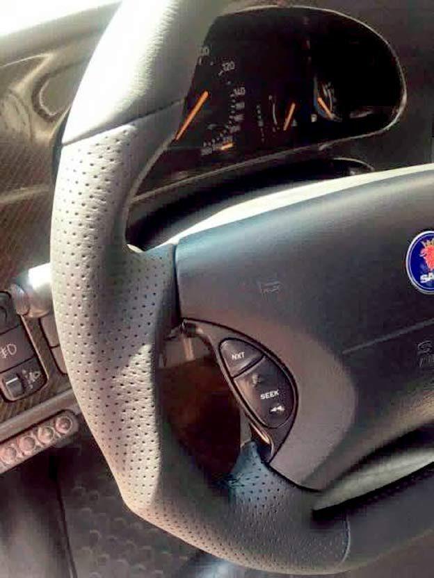 Saab custom steering wheel