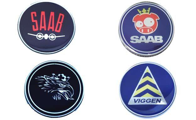 Saab 3D Stickers