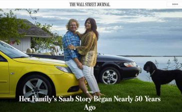 The Blinken family's 2008 Saab 93 and 2001 Saab 93. The Blinkens own five Saabs. Saab story by WSJ