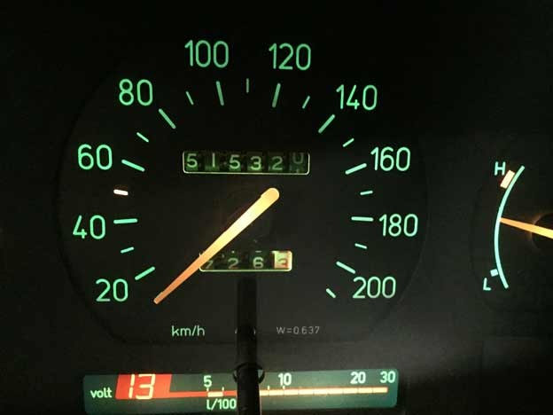 Now Saab 9000 has 513 320km on it´s tachometer