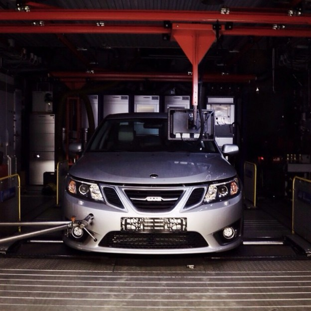 Trollhättan, Sweden Ready for testing. #saab #cars