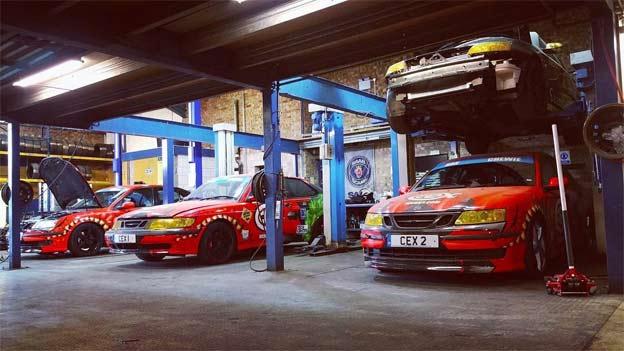 Saab track cars