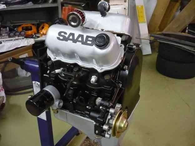 Custom Saab 95 V4 Hot Rod