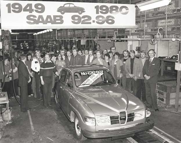 The Last one Saab 96 at Valmet automotive