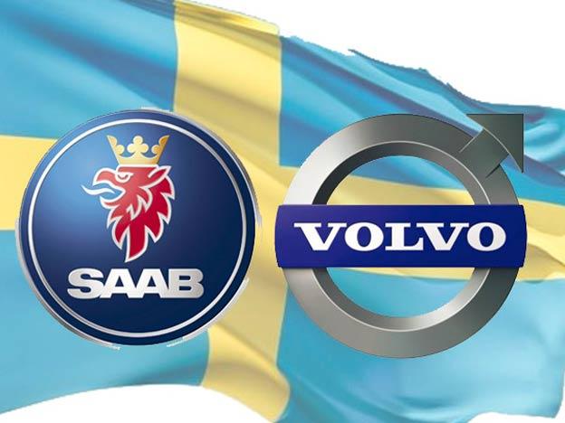 Saab Volvo Flag