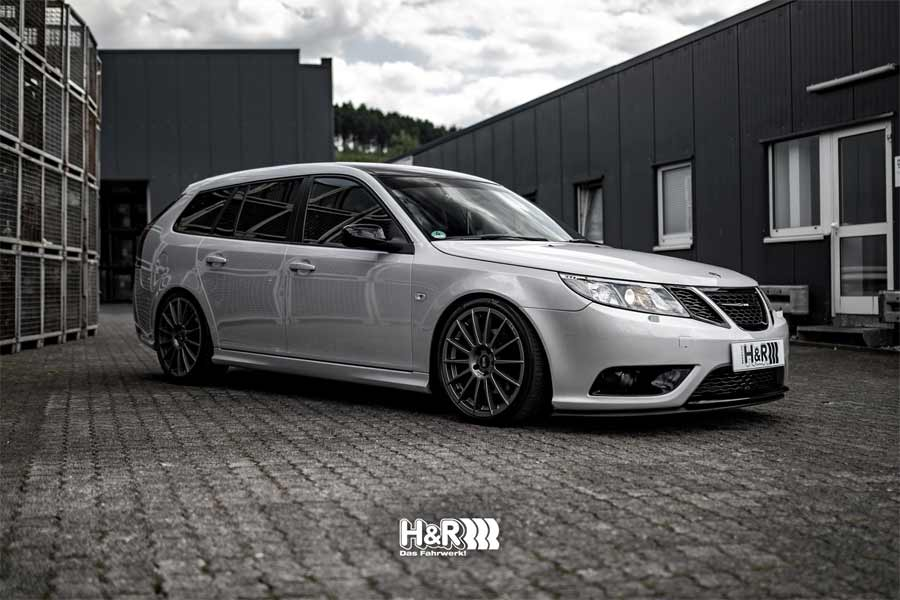 Saab 9-3 SportCombi von Vitali with H&R Sports Suspension Kit