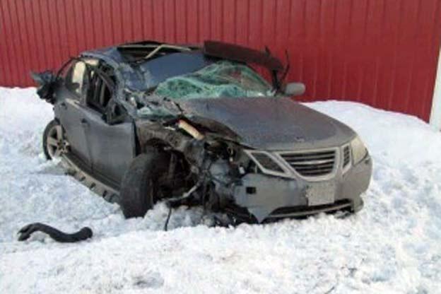 Saab 9-3 wreck