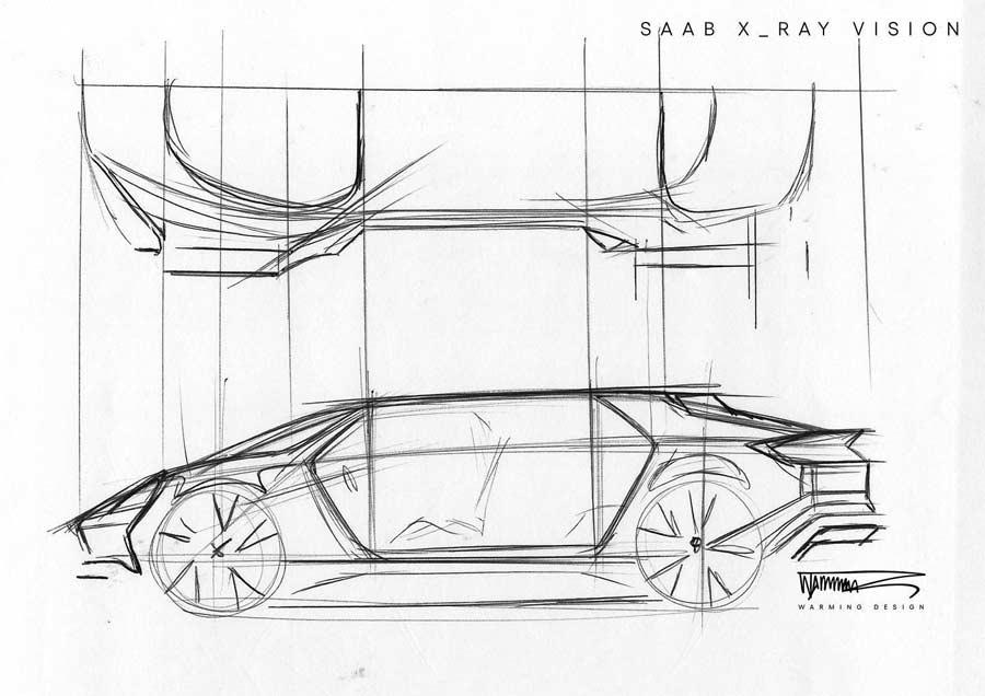 Saab x-ray vision concept