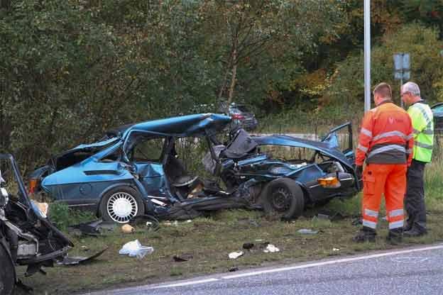 Saab 900 Crash in Danmark