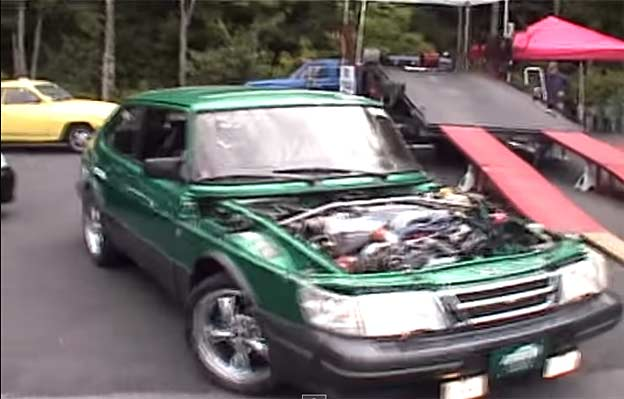Saab 900 with a 5.0L V8 Supercharged Mustang Motor