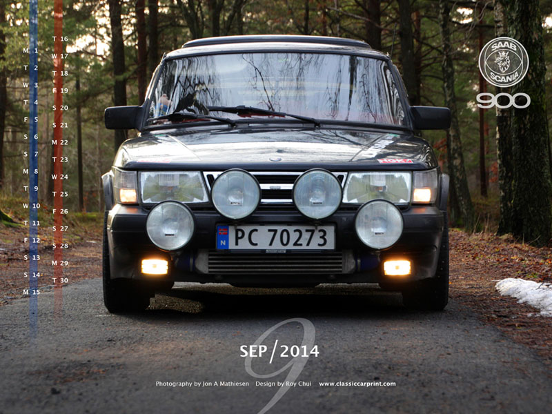 Download SAAB Calendar Wallpapers for September 2014
