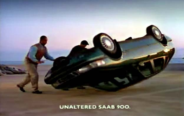 Saab 900 NG - Rollover and drive