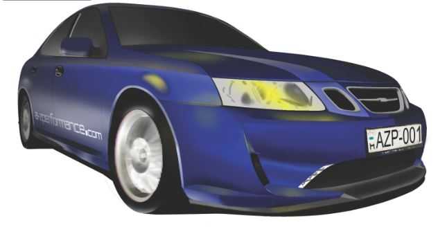 A-Zperformance design body kit for Saab 9-3 SS
