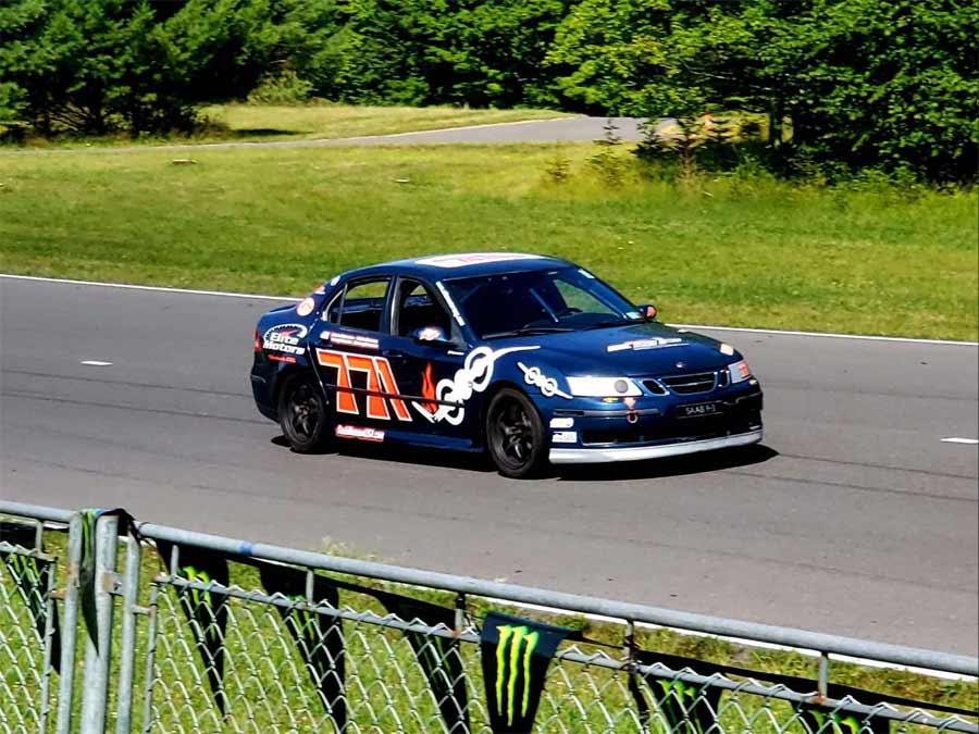The Saab 9-3 SS special purpose-built by The Elite Motors race car at the New York Safety Track