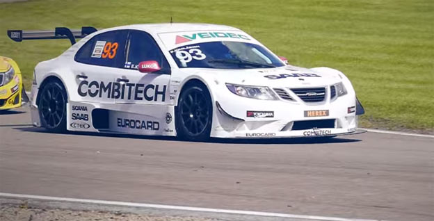 Saab PWR Racing Team highlights - STCC Ring Knutstorp race day [video]