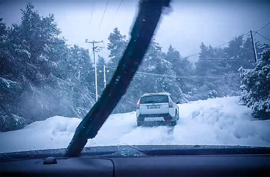 Saab 9-3x winter test drive