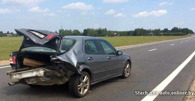Audi A6 Crashed into Saab 9-5