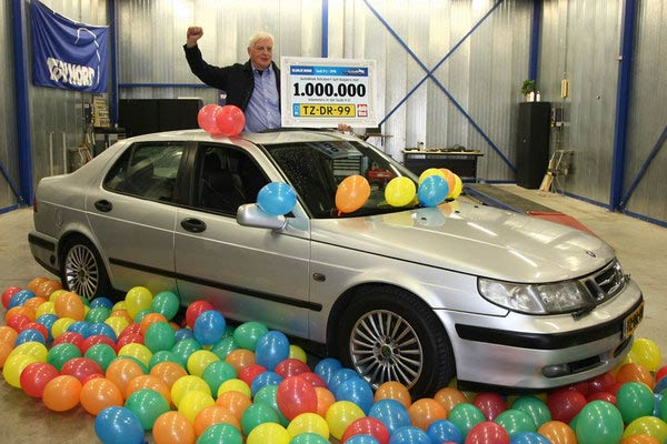 1 million kilometres with a Saab 9-5