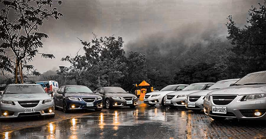 Saab 9-5 ng meeting