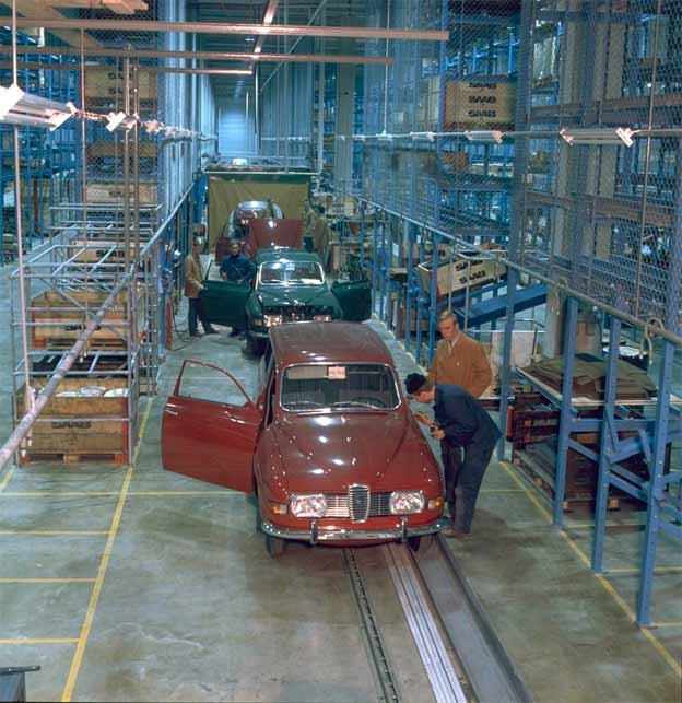 Saab 96 at Uusikapinki plant