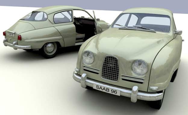 How to: Saab 96 in 3D Studio MAX 11