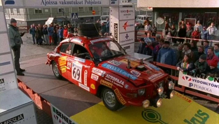 "Saab 96 V6 ""Rally"" from movie called ""Kummeli Stories"""