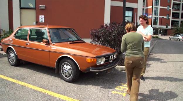 Son Buys Mom Her Dream Car - 1973 SAAB 99 EMS!