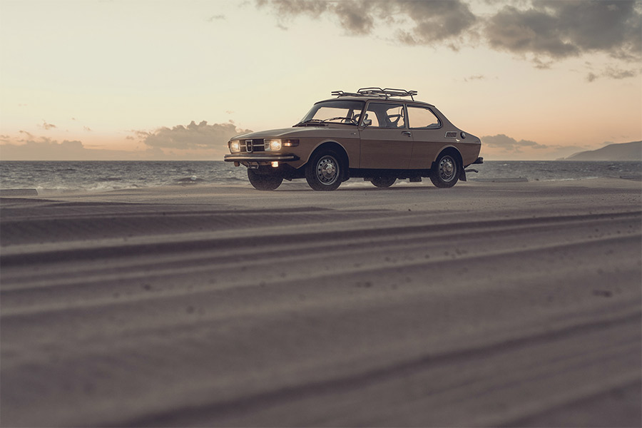 Saab & Waves - Photo by Aaron Brimhall