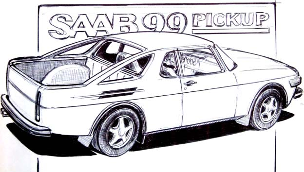 Saab 99 Turbo Truck sketches