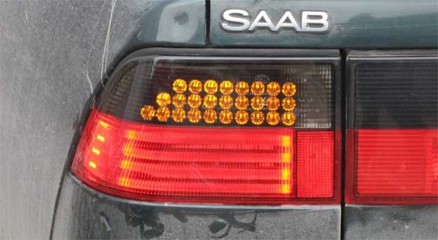 Saab 9000 LED lights