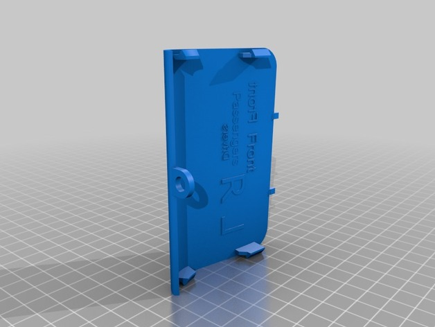 Print 3D parts for your Saab - Saab Jack point cover