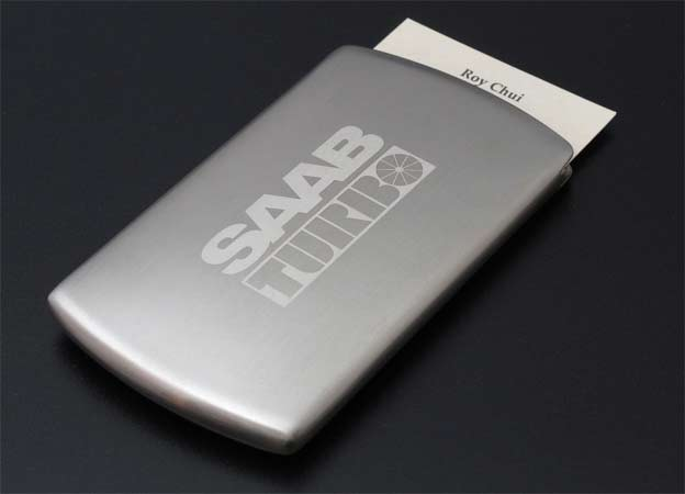 Saab Turbo Business Card Case