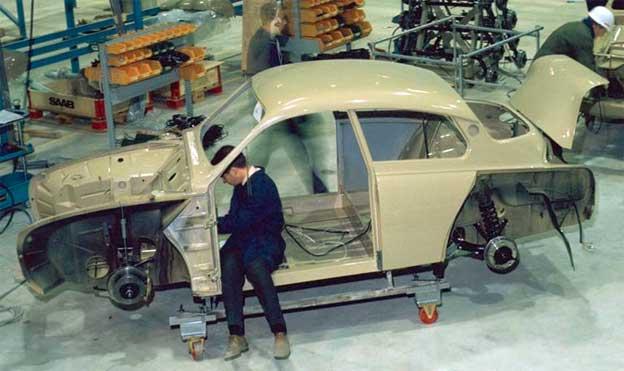 Savannah Beige Saab 96