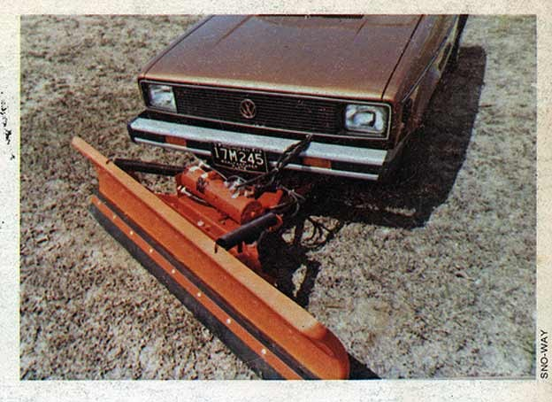 VW Golf MK1 Snow-Way Plow