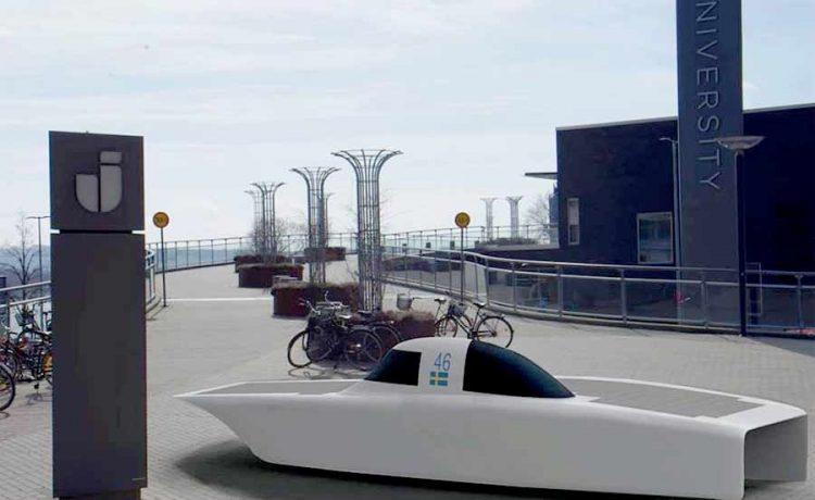 Solar powered car sponsored by NEVS