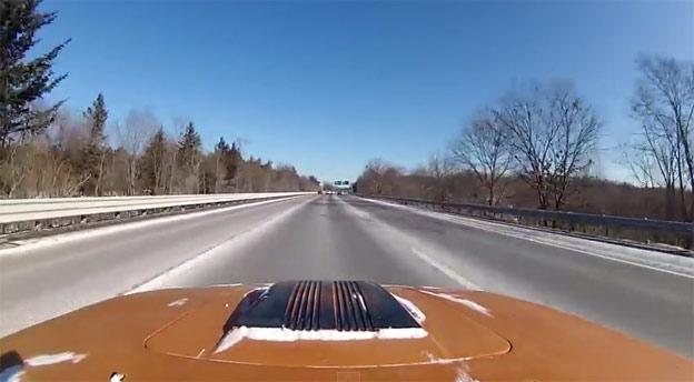 Saab Sonett Top Speed Run on Highway